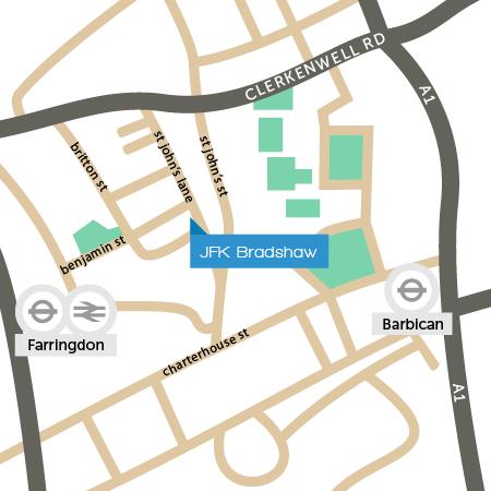 JFK Bradshaw Map